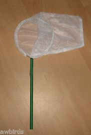 BIRD CATCHING NET - MEDIUM - 18cm - WHITE MESH - 1mm SIZE HOLES